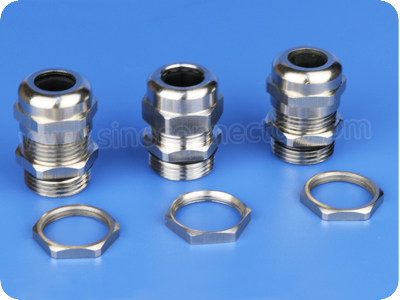 Stainless Steel Cable Gland Connector SUS304 / SUS316 / SUS316L (G Thread)