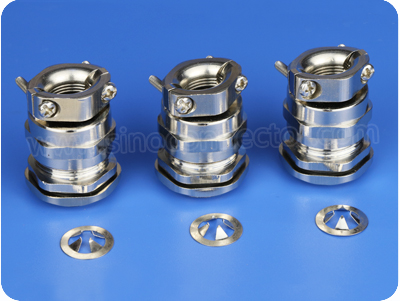 EMC Metal Cable Glands with Pull Relief Clamp (Short Metric Thread)
