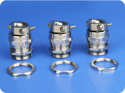 Metal Cable Glands with Tension Relief Clamp (Short Metric Thread)