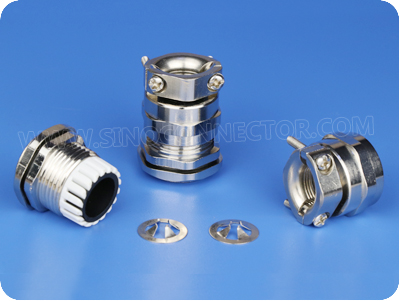 EMC Metal Cable Gland with Strain Relief Clamp (Short PG Thread)