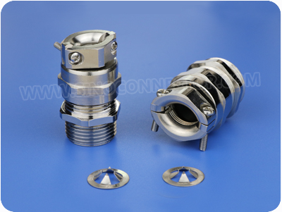 EMC Metal Cable Gland with Stress Relief Clamp (NPT Thread)