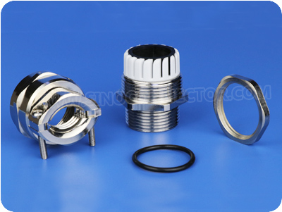 Metal Cable Glands with Traction Relief Clamp (Long Metric Thread)