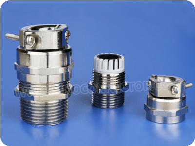 Brass Cable Glands with Strain Relief Clamp (NPT Thread)