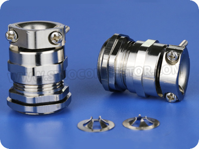 EMC Metal Cable Gland with Pullout Resistant Clamp (G Thread)