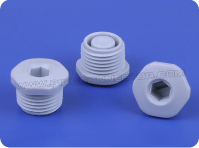 Nylon Threaded Hexagonal Plugs (PG Thread)